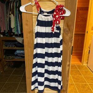 Red, white & blue dress
